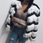Poilu-moelleux-fourrure-manteau-femmes-hiver-paissir-chaud-veste-manches-longues-o-cou-Slim-contraste-couleur