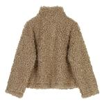 Deuxtwinstyle-Patchwork-PU-cuir-poilu-veste-pour-femmes-revers-col-manches-longues-d-contract-Hit-couleur