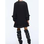Star-luciole-automne-nouvelle-mode-Za-robe-femmes-2019-d-contract-doux-lanterne-manches-drap-col