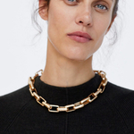 JUST-FEEL-ZA-cercles-g-om-triques-Chokers-collier-femmes-Boho-ethnique-couleur-or-Maxi-cha