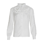 CHICEVER-Patchwork-vider-femmes-chemise-col-montant-lanterne-manches-l-che-blouse-d-contract-e-femme