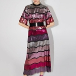 GALCAUR-Patchwork-Sequin-Hit-Color-Dress-Female-Stand-Collar-Flare-Sleeve-Large-Size-Midi-Dresses-Women