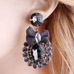 NeeFu-WoFu-goutte-strass-cristal-cravate-grande-boucle-d-oreille-pendaison-en-alliage-de-Zinc-grand