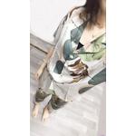 Pyjamas-femmes-manches-courtes-pantacourt-pyjama-ensemble-avec-feuilles-impression-revers-d-contract-grande-taille-Style