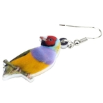 Bonsny-Acrylic-Unique-Australian-Gouldian-Finch-Bird-Earrings-Big-Long-Dangle-Drop-Colorful-Animal-Jewelry-For