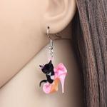 Bonsny-Acrylic-Valentine-s-Day-High-Heels-Black-Cat-Earrings-Drop-Dangle-Jewelry-For-Women-Girls