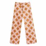 2020-NEW-Summer-Women-2-pieces-Set-orange-print-short-Sleeve-shirt-blouse-long-pant-Suit