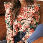 Celandine-O-cou-manches-longues-volants-Boho-chemises-fleurs-Vintage-impression-Blouse-femmes-d-contract-hauts