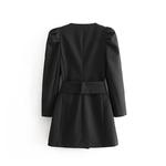 Blazer-noir-ceinture-pour-femme-veste-longue-l-gante-crois-style-cor-en-d-contract-pour