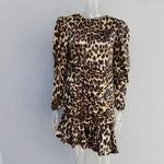 JOYDU-Piste-Vintage-Impression-L-opard-Robes-Femme-2019-O-cou-Puff-Manches-Longues-Sir-ne