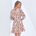 TWOTWINSTYLE-robe-imprim-e-pour-femmes-col-en-V-manches-longues-taille-haute-ceintures-robes-l