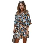 Robe-d-t-2021-Femmes-Boho-Floral-Impression-Sexy-V-cou-Parti-Mini-Robe-Plage-Vacances