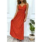 longue-robe-rouge-motif-noir-croise-au-buste-cintre-avec-elastique-a-la-taille-et-au-dos (1)