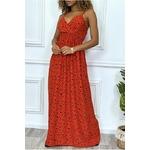 longue-robe-rouge-motif-noir-croise-au-buste-cintre-avec-elastique-a-la-taille-et-au-dos (2)