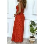 longue-robe-rouge-motif-noir-croise-au-buste-cintre-avec-elastique-a-la-taille-et-au-dos (3)