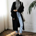 Dicstrong-mode-Long-Cardigan-femmes-2018-mode-Harajuku-l-che-tricot-chandail-femmes-d-contract-noir