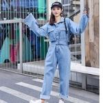 Mode-Streetwear-Style-Denim-salopette-femmes-2018-automne-manches-longues-body-taille-haute-Jeans-moulante-barboteuse