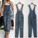 Femmes-lav-Jeans-Denim-d-contract-trou-combinaison-barboteuse-salopette-Denim-pantalons-Denim-combinaisons-pour-femmes