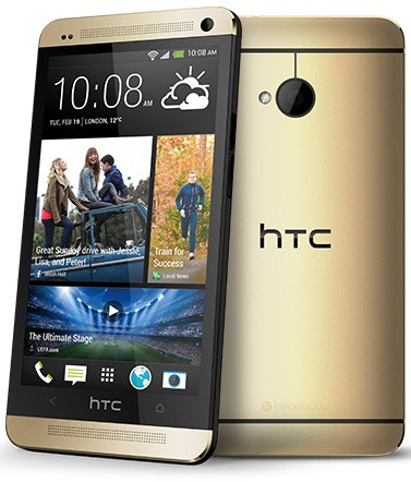 HTC ONE M7 Gold