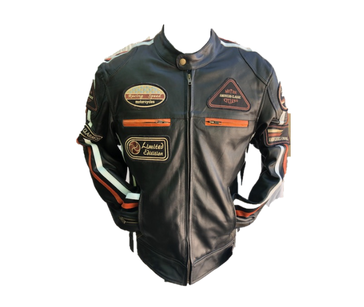Blouson Café Racer H Orange