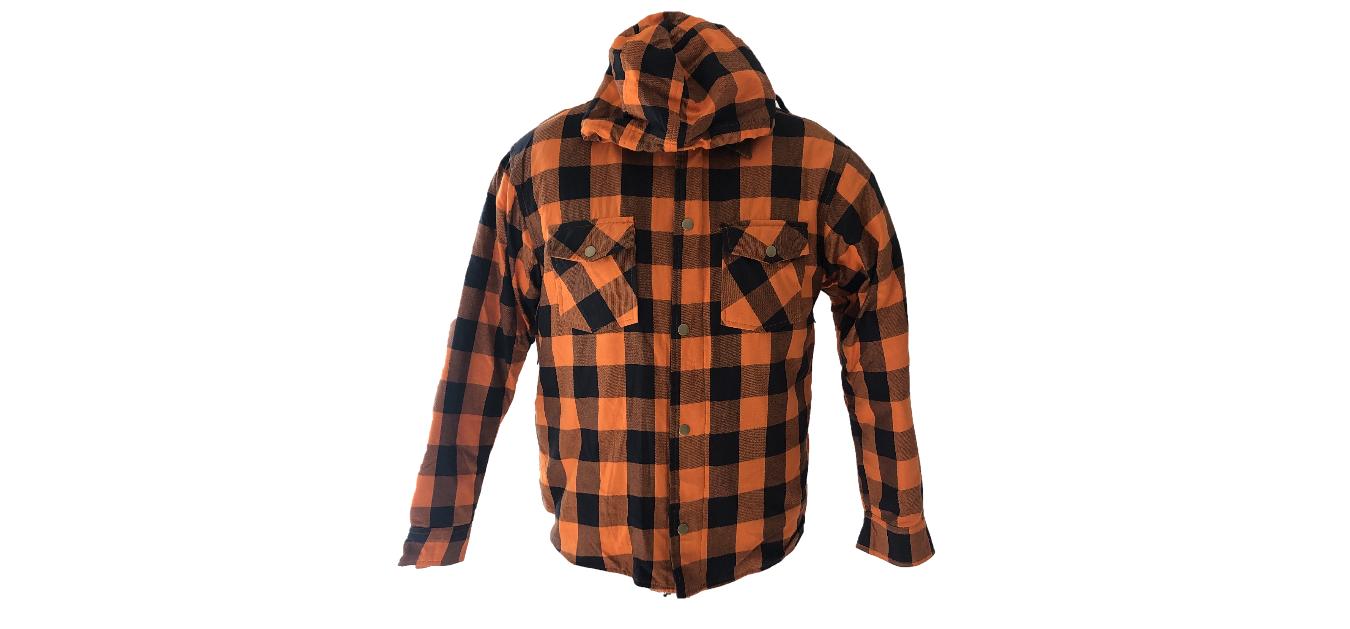 Chemise biker homme à carreaux Lumberjack couleur orange