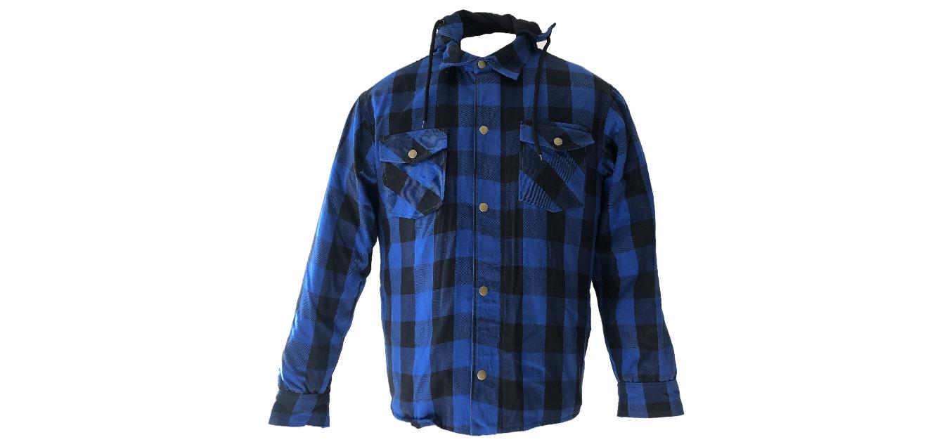Chemise biker homme à carreaux Lumberjack couleur bleue