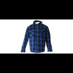 chemise bleu face