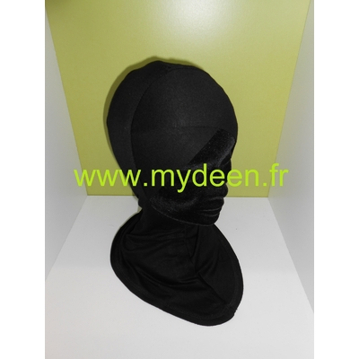 Bonnet croisé / Cache-cou 2 en 1 Noir