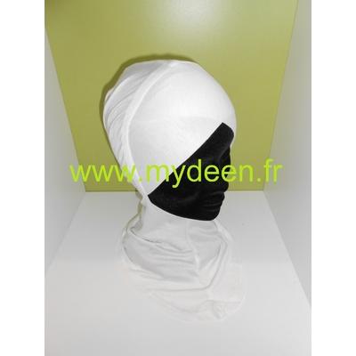 Bonnet croisé / Cache-cou 2 en 1  Ecru