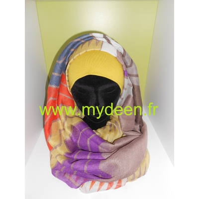 "Grand Hijab ""Zig Zag"" Multicolore"