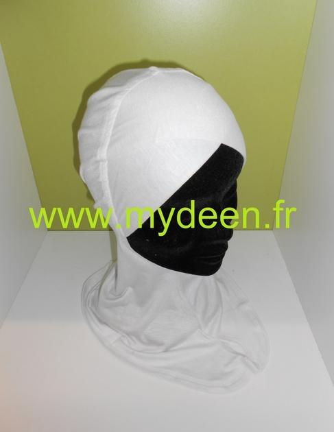 bonnet crois cache cou 2 en 1 blanc c t v tements. Black Bedroom Furniture Sets. Home Design Ideas