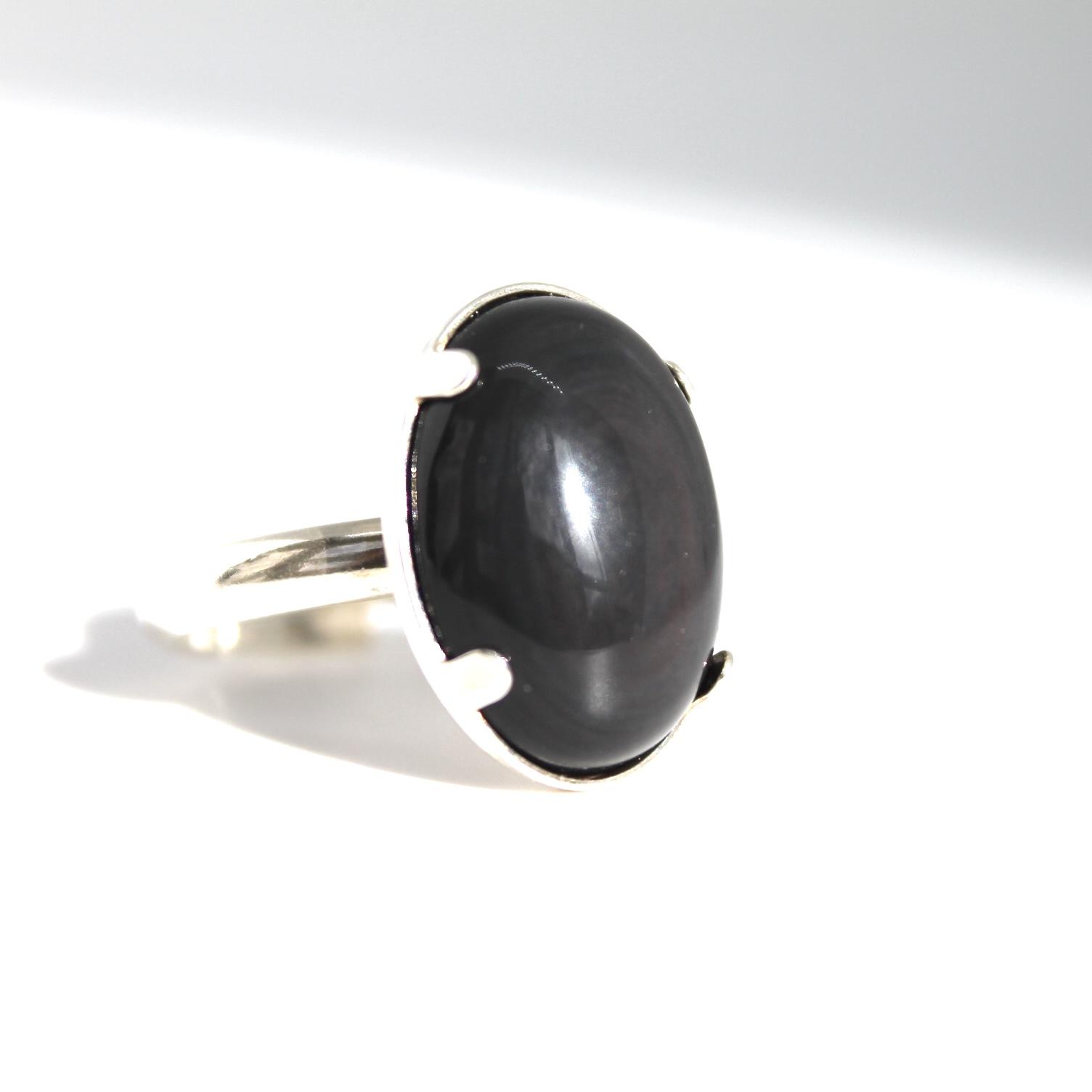 Bague obsidienne