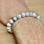 image bracelet howlite calme et stabilité