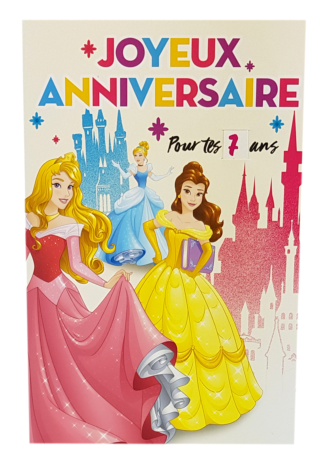 Carte de menu anniversaire princesses Disney 4. Réf. 114
