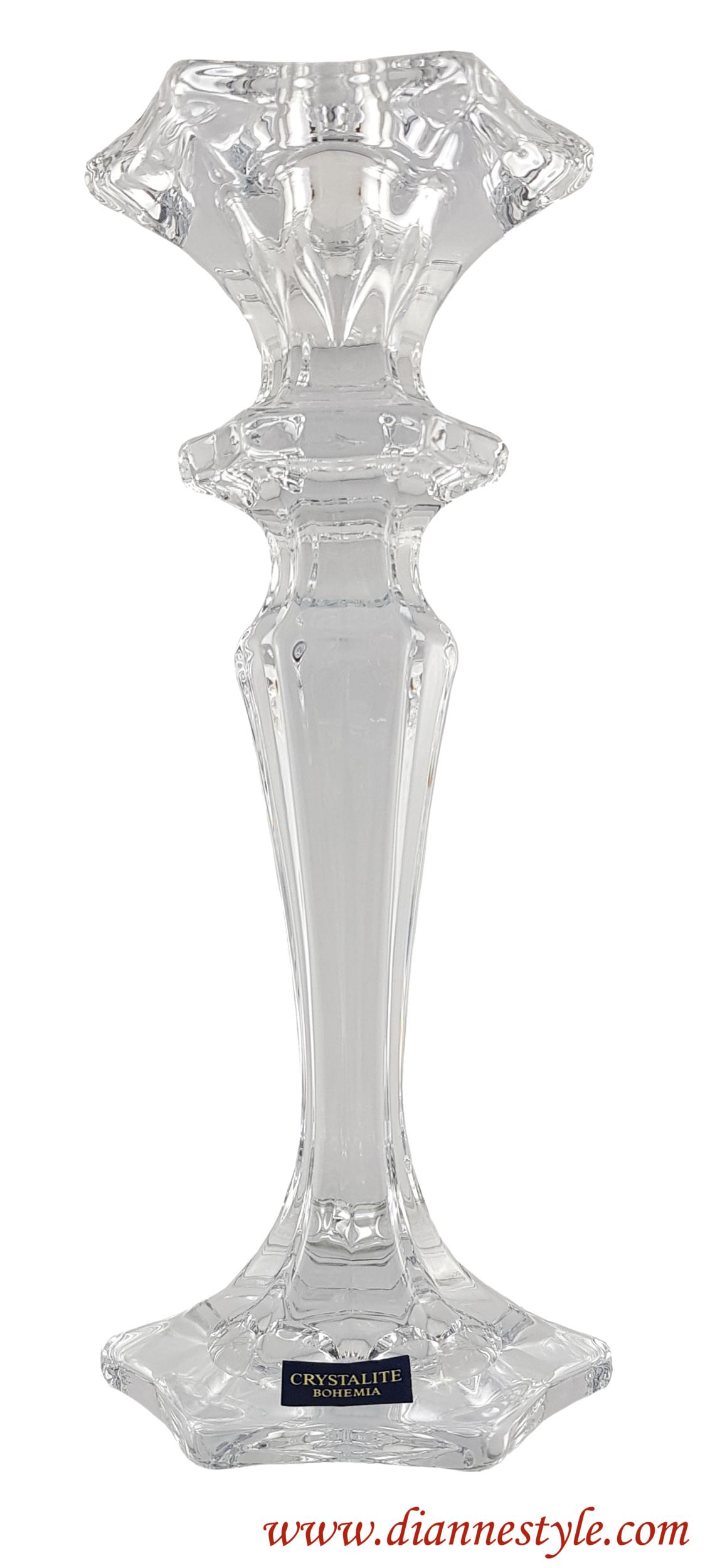Bougeoir LUXOR en cristal de Bohême sans plomb. Réf. 178