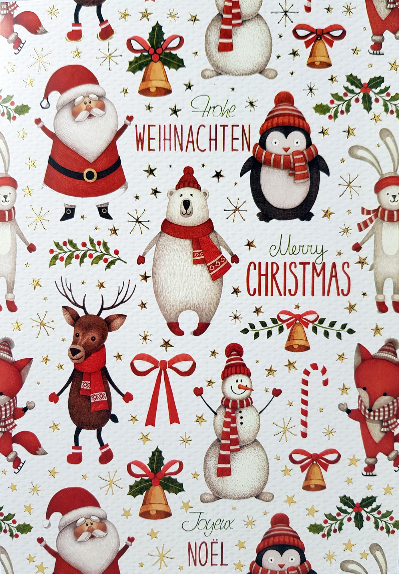 Carte de menu Noël Réf 194 A