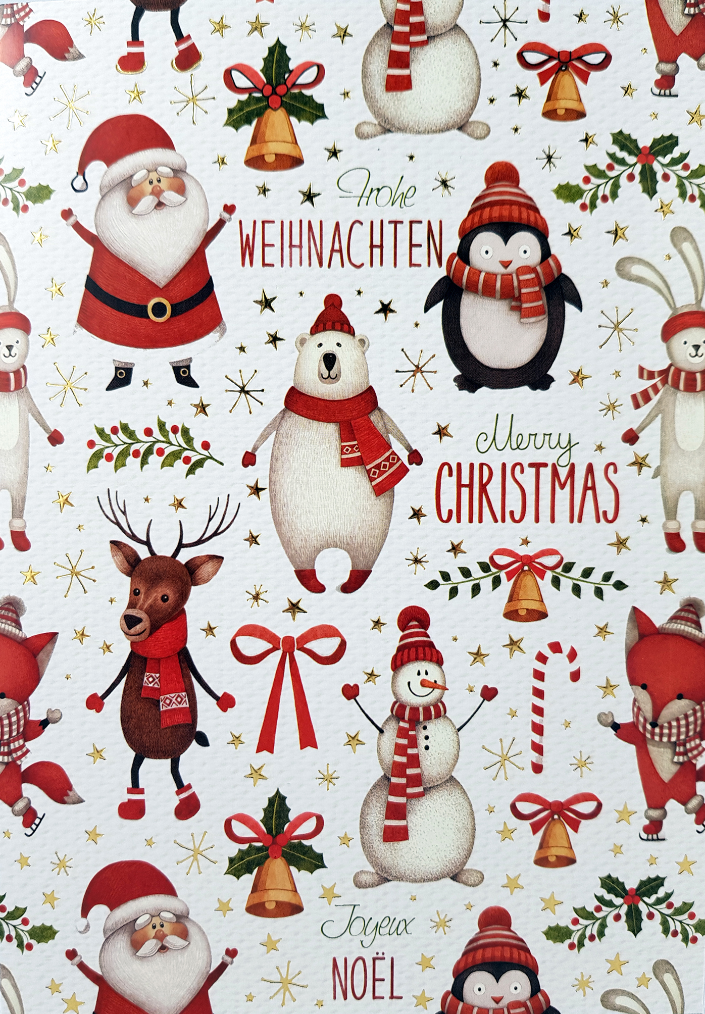 Carte de menu Noël-Personnages. Réf. 194
