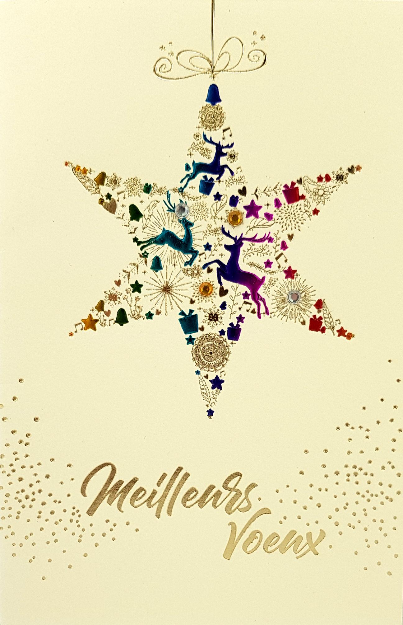 Carte de menu nouvel an saint sylvestre 195 A