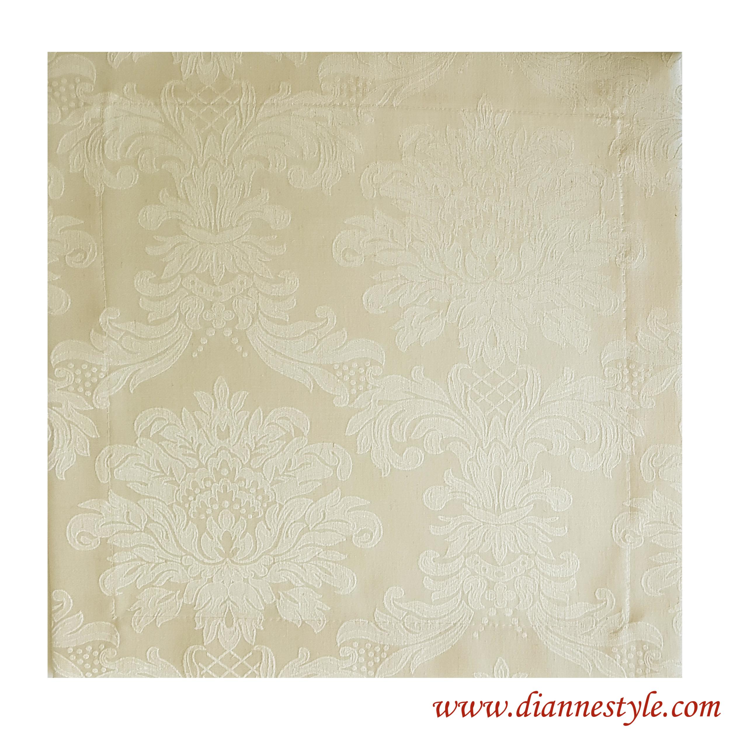 Serviette de table damassée ivoire Prestance 40x40 cm. Réf. 198