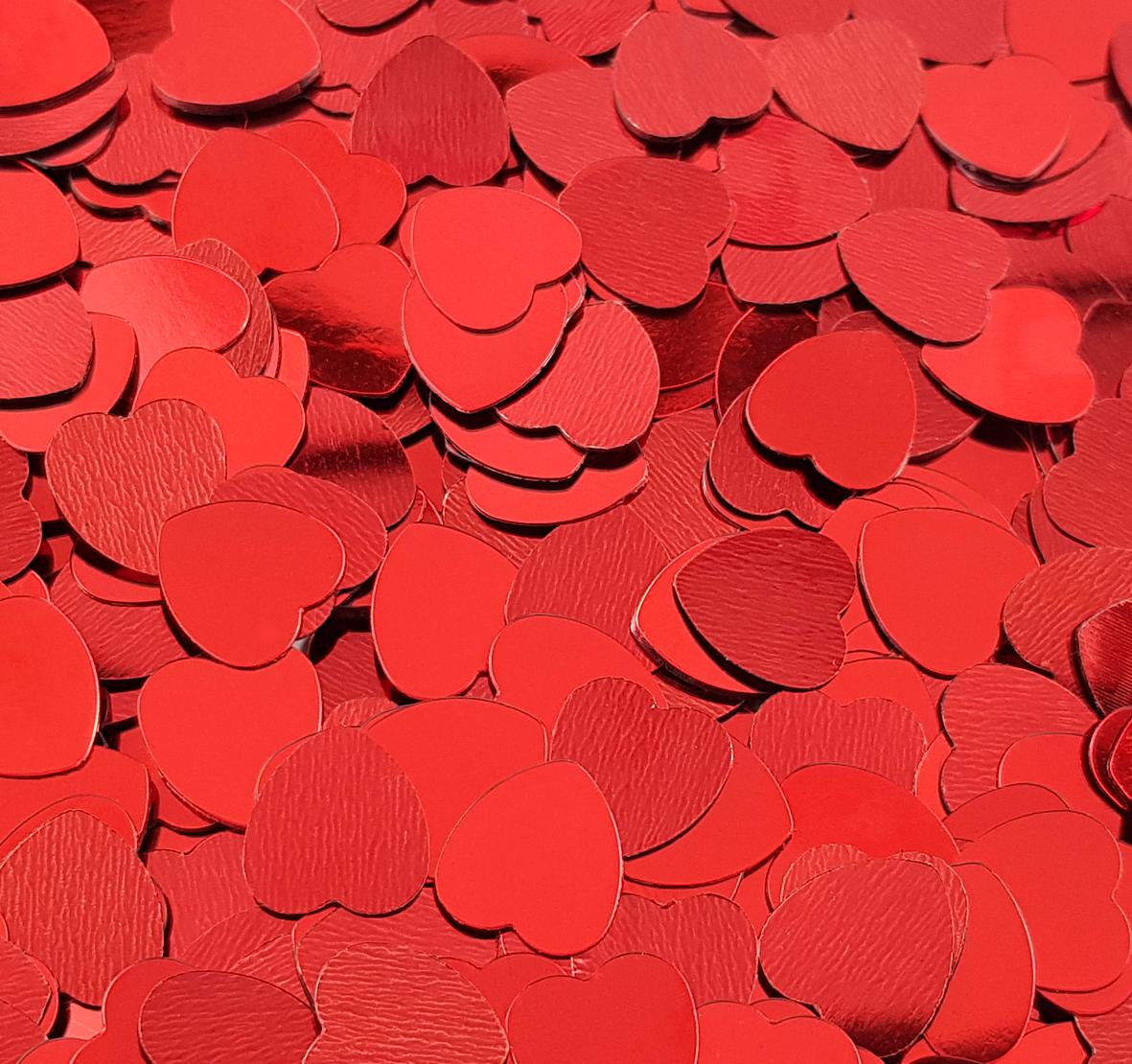 Paillettes de table rouges en forme de cœur. 20 gr. Réf. 200