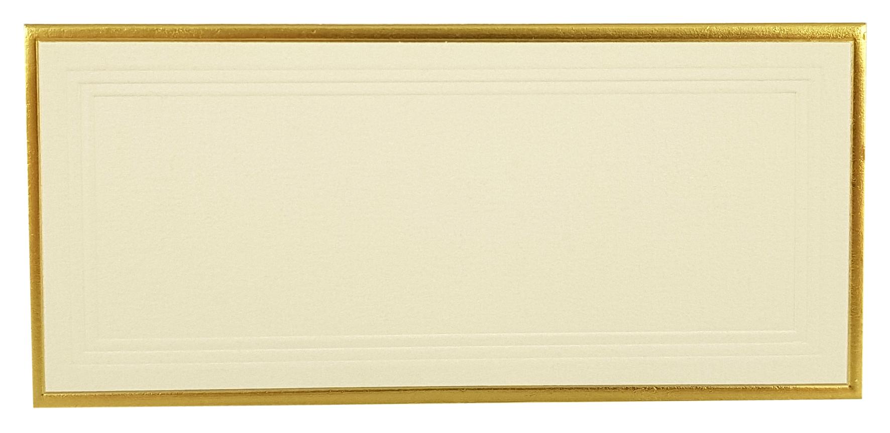Marque-place ivoire, contour doré. Réf. 215