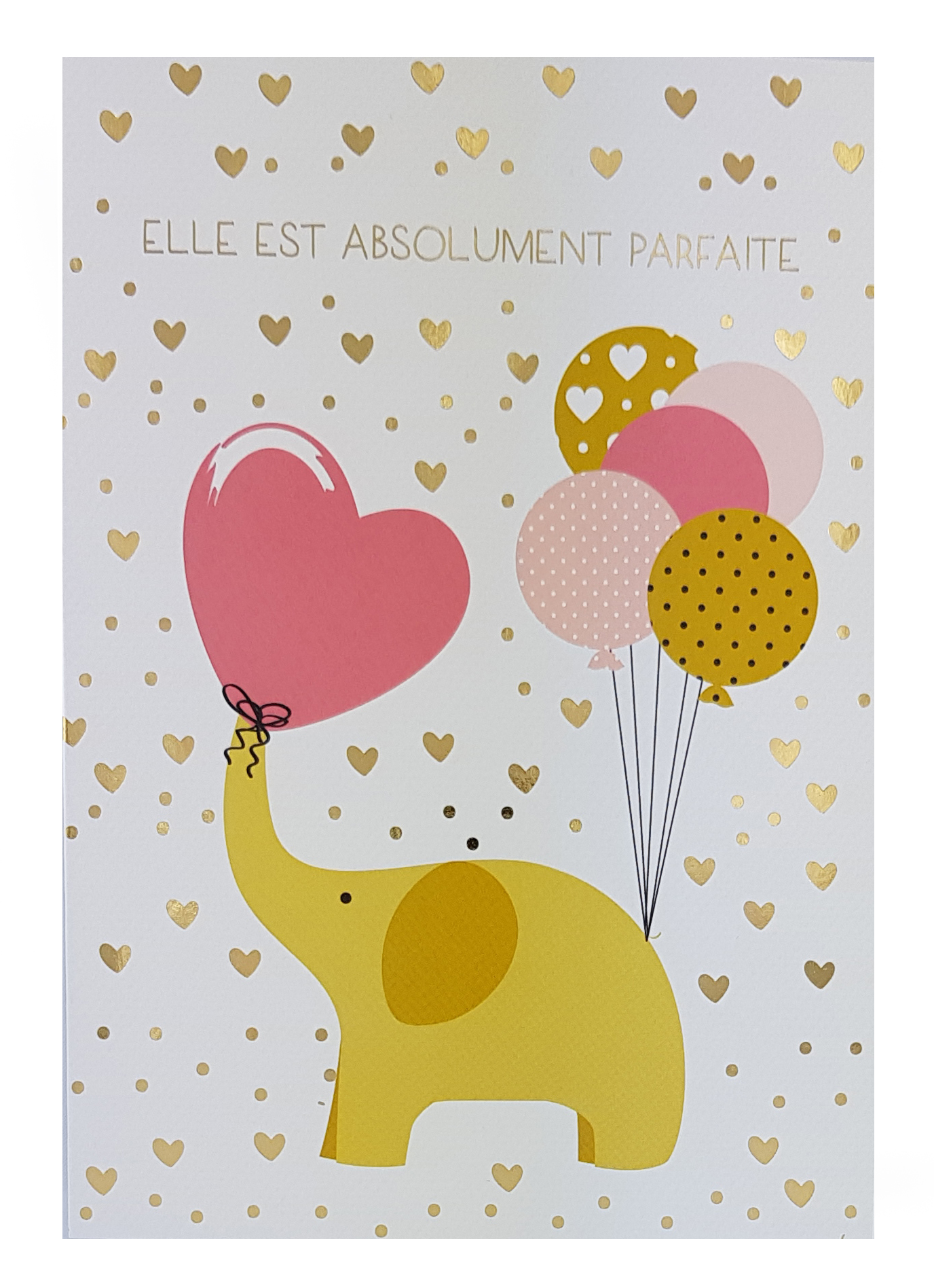 Carte personnalisable en menu - Thème naissance filles