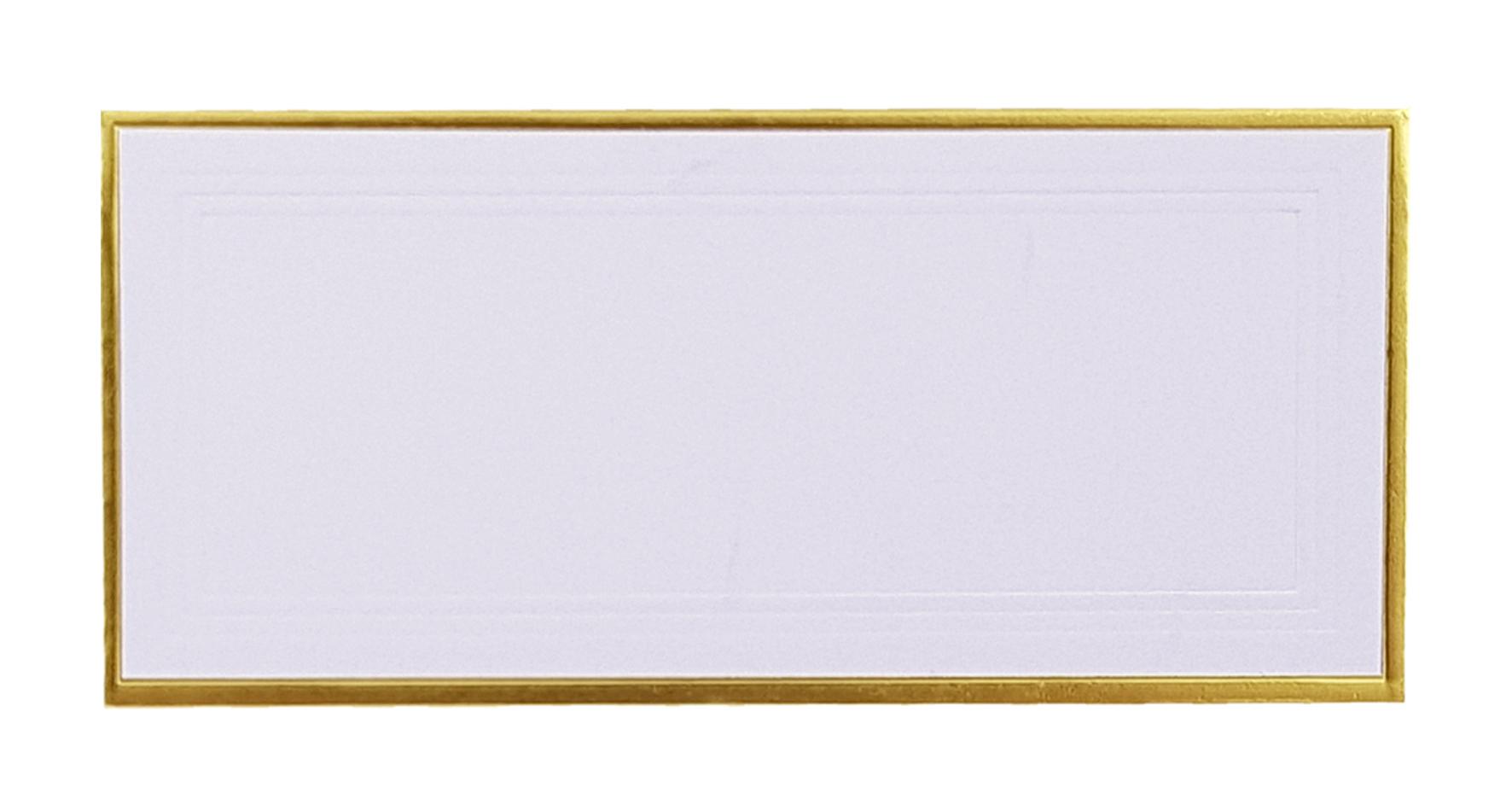 Marque-place blanc, contours dorés. Réf. 217