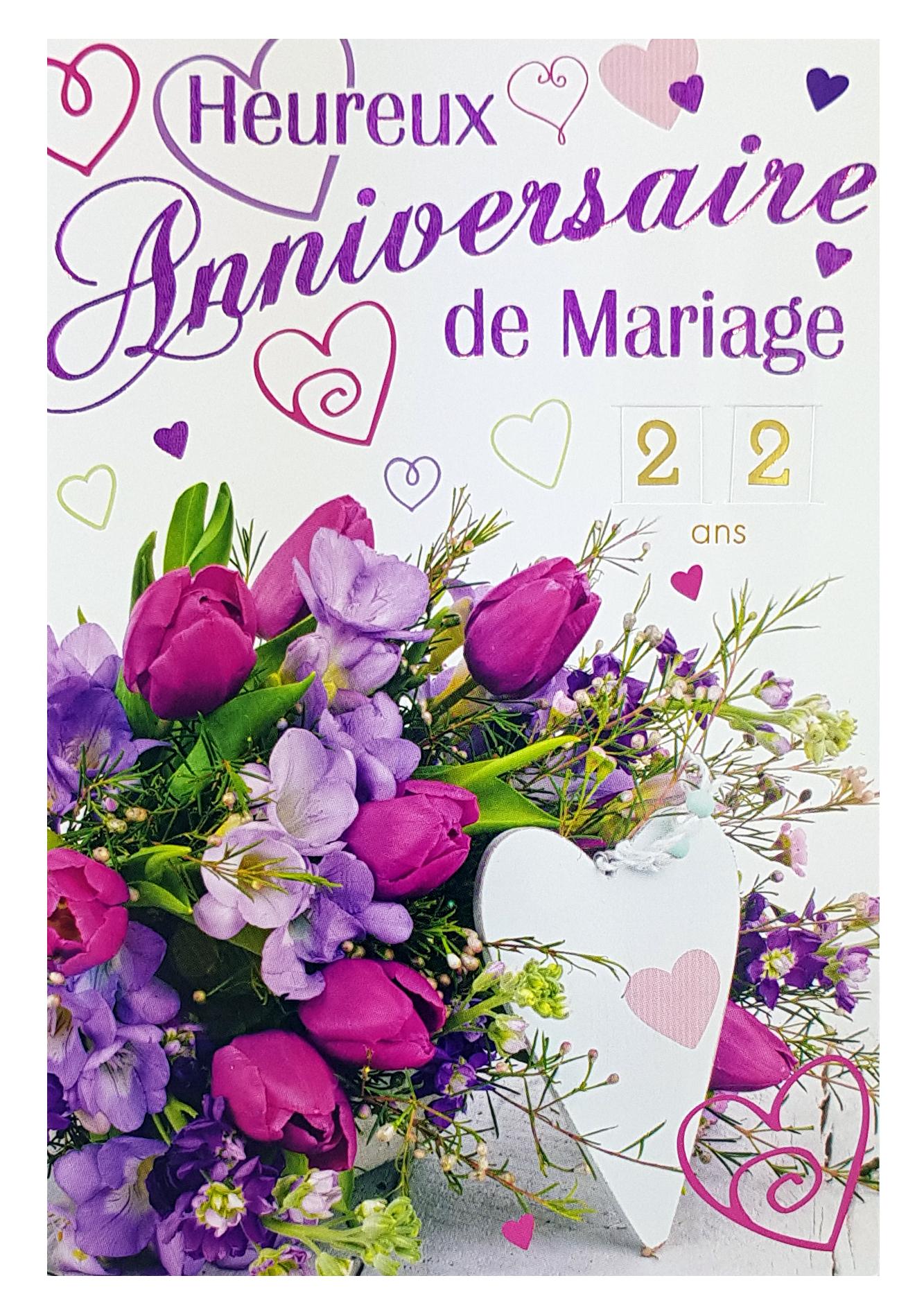 Carte anniversaire de mariage. Réf. 32