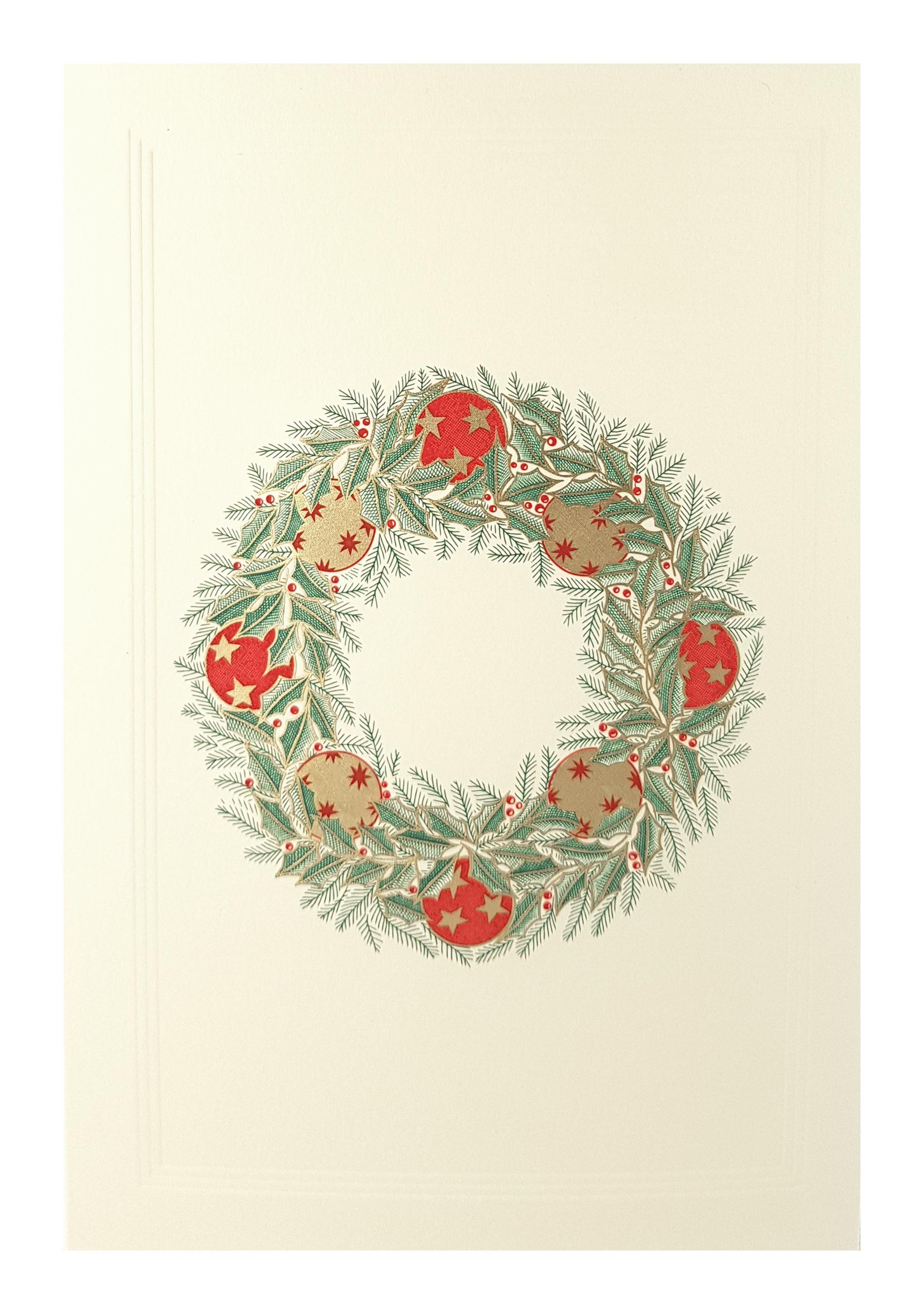 Carte de menu Noël-Couronne. Réf. 269