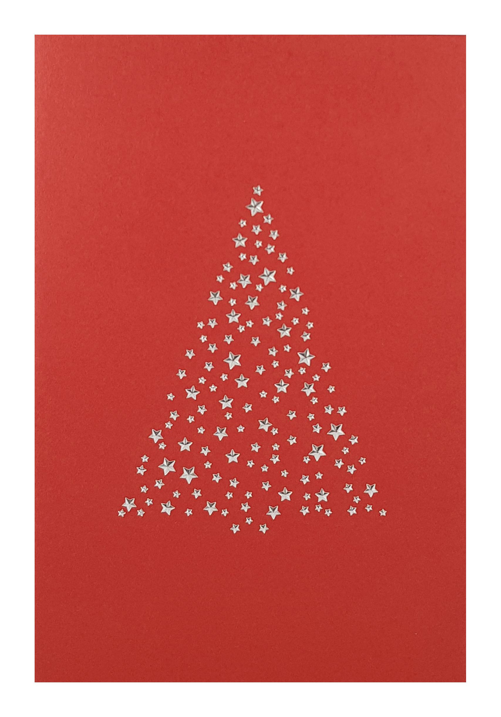 Carte de menu Noël-Sapin argenté. Réf. 270