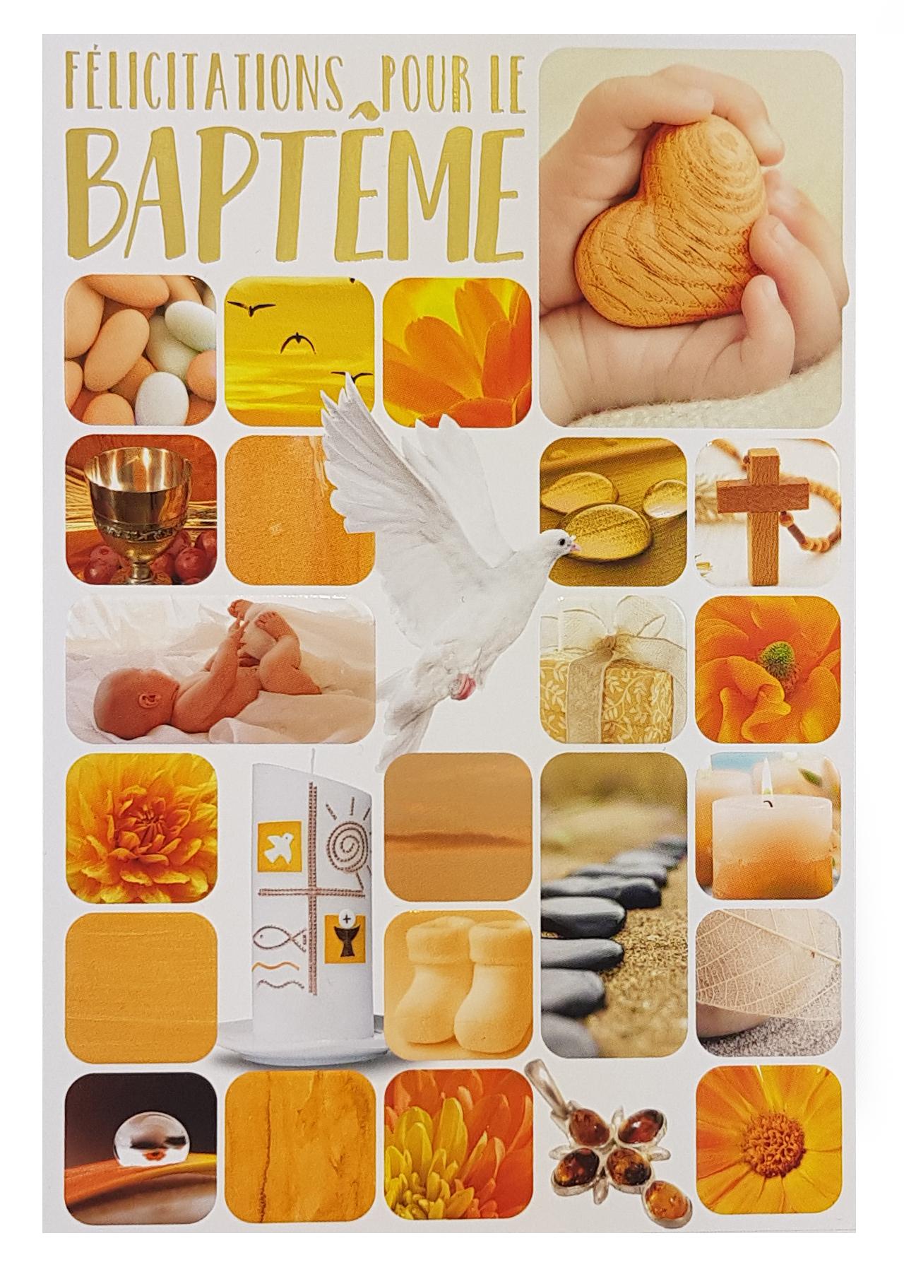 Carte de menu baptême fille. Réf. 53