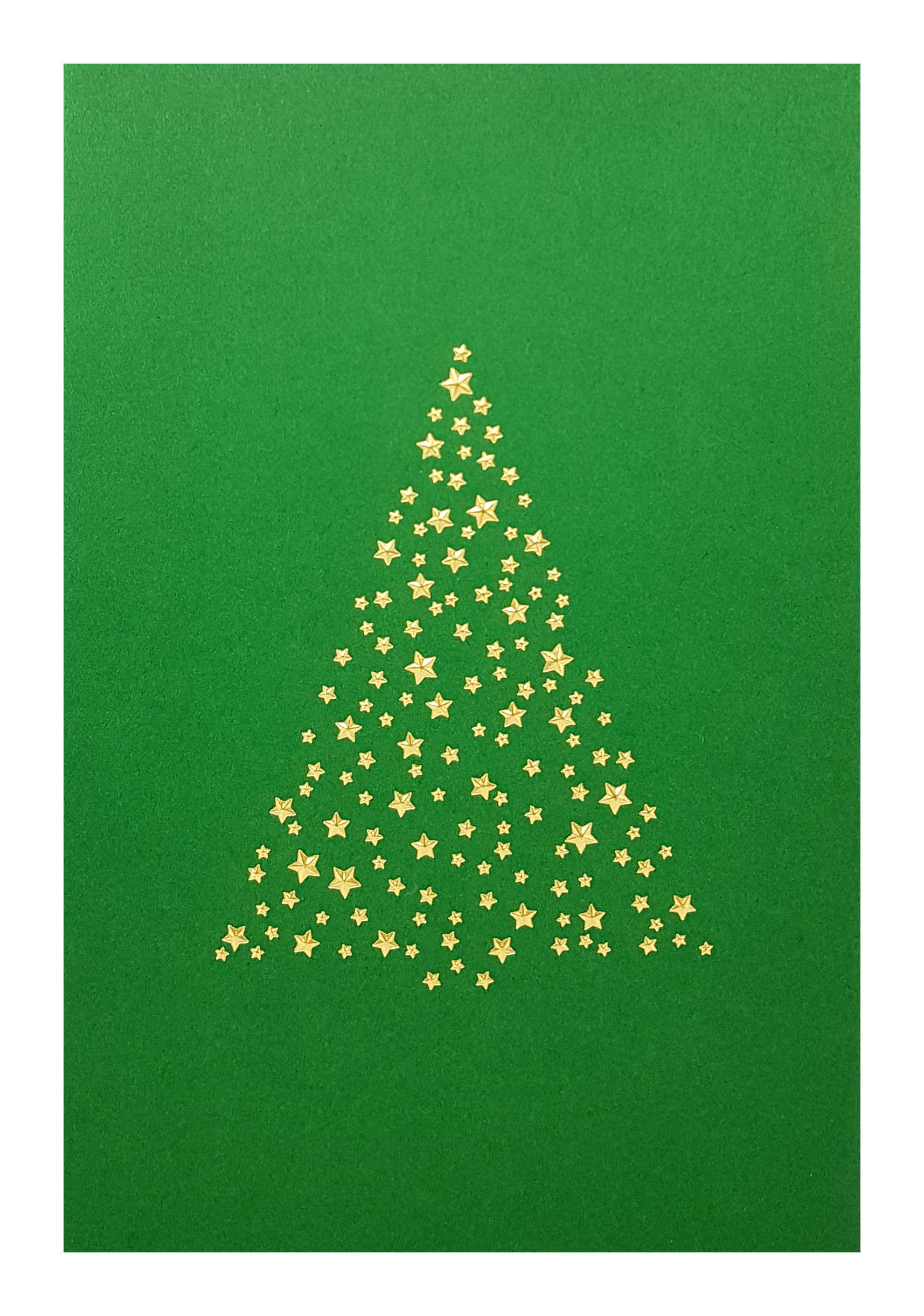 Carte de menu Noël-Sapin doré. Réf. 271