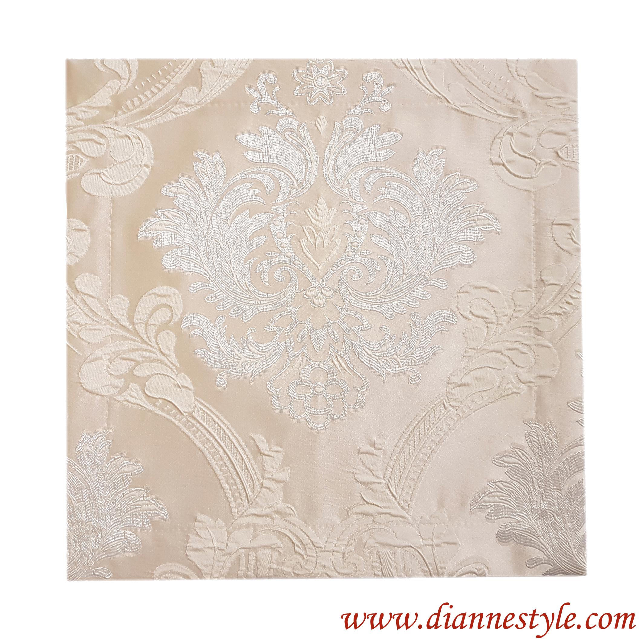 Serviette de table damassée beige Prestige 30x30 cm. Réf. 132