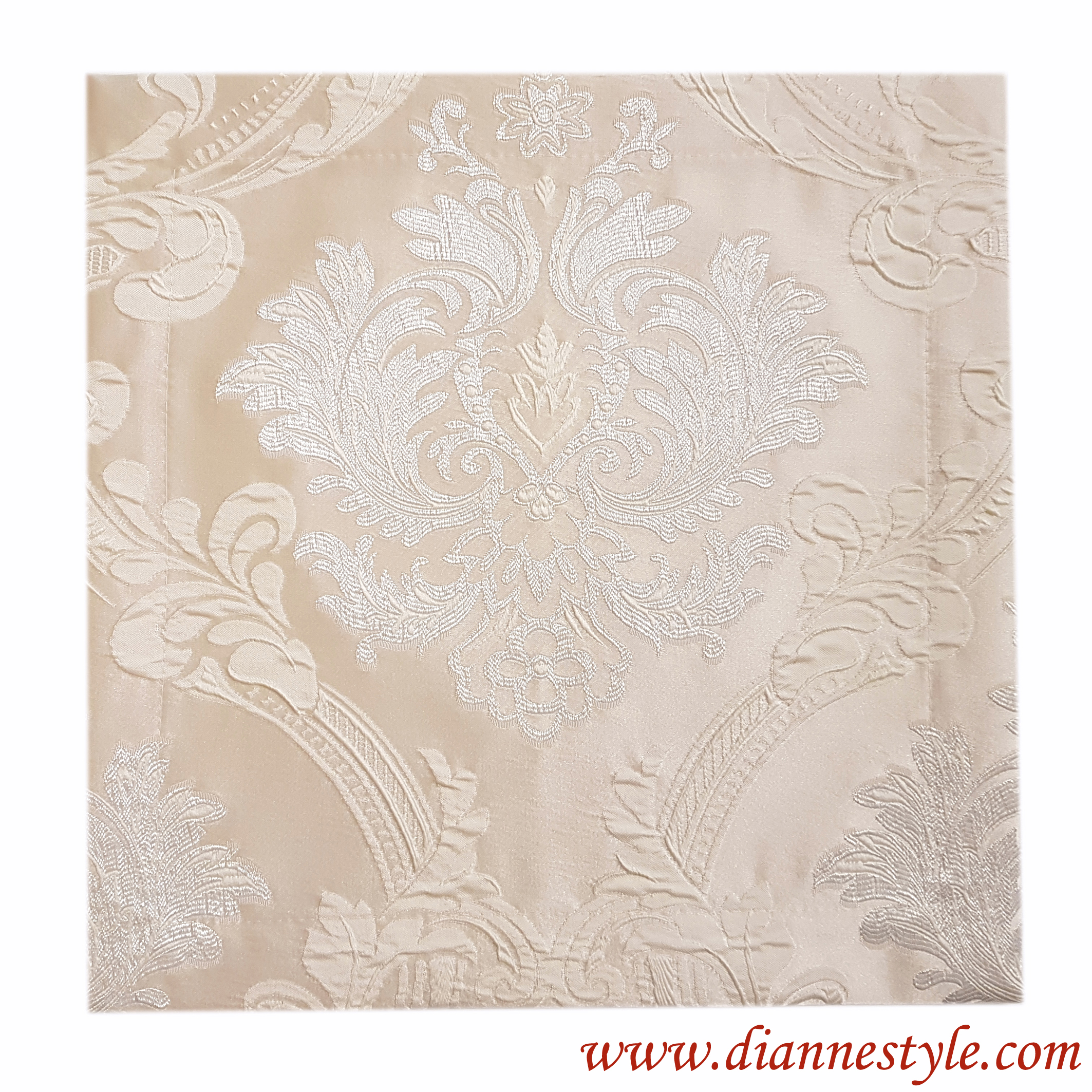 Serviette de table damassée beige Prestige 40x40 cm. Réf. 182